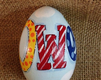 "3.25"" Personalized name easter egg, wooden egg,"