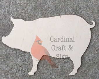 FAST SHIPPING Pig Farm Door Hanger Wooden Unfinished Front Door Hanger