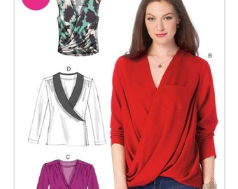 McCall's 6991 Misses' Tops 4 Designs  Size 8-10-12-14-16  New- Uncut