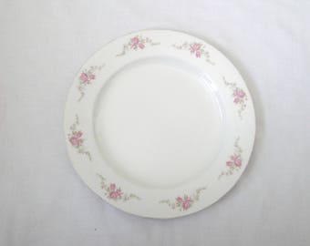"Antique W. H. Grindley  & Co. 10"" Dinner Plate Very Rare The Olympic Pink Roses"