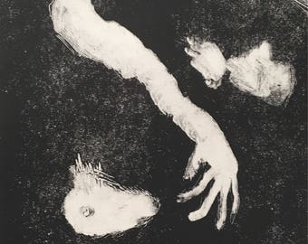 Limbs, original monotype print