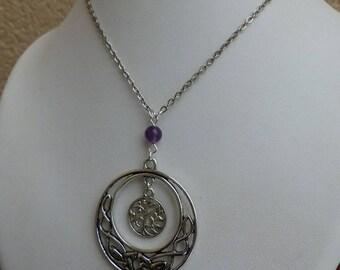 Necklace Elvish tree of life Amethyst