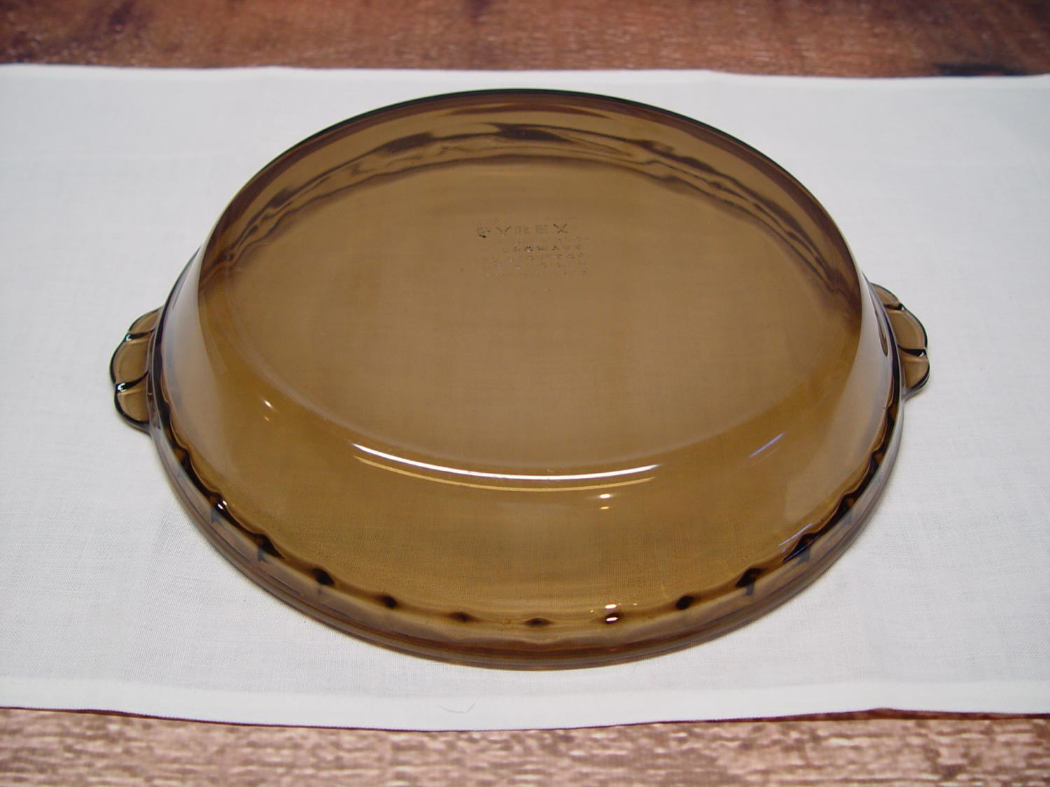 Pyrex Amber Pie Plate Fluted Edge and Handles 9 Inch Pie Pan & Pyrex Amber Pie Plate Fluted Edge and Handles 9 Inch Pie Pan from ...