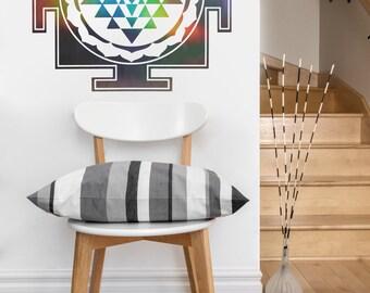 Sri Yantra Square   mandala vinyl Wall DECAL   seed Sacred geometry, sticker art, home decor, rainbow