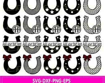 60 % OFF, Horseshoe SVG, Monogram Svg Horseshoe Files, Svg, Png, Eps, Dxf, Cut Files For Cricut, Silhouette Files, Horseshoe Clipart