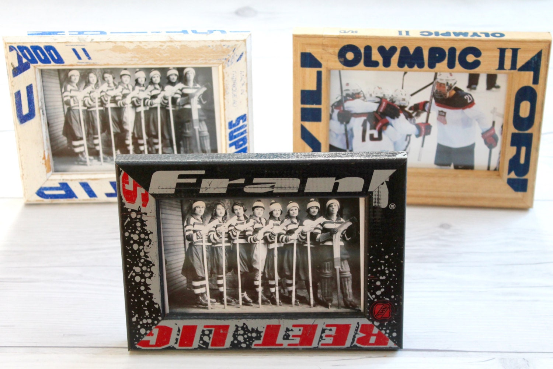 4x6 Repurposed Wooden Hockey Stick Frame; Hockey Coach Gift ...