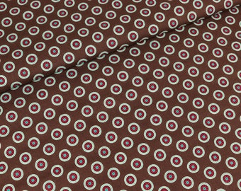 Cotton Lia circles Brown (9,90 EUR / meter)