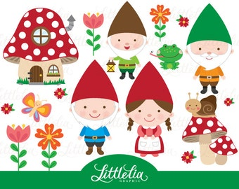 Gnome clipart - woodland clipart - 15023