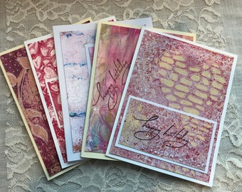 Handmade Card Set Large Lot,  Assorted Lot 50 Handmade cards, Greeting cards, Birthday cards, Thank you Cards, note cards, mixed media card