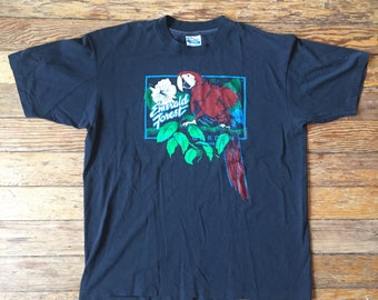 1992 Emerald Forest Bird Garden Vintage T Shirt