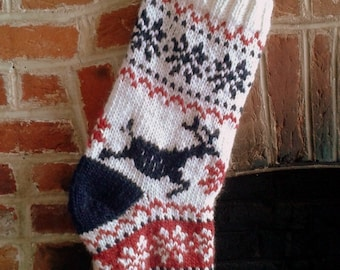 Nordic Scandi Christmas Stocking Knitting Pattern PDF | Christmas Knits | Home Decor | The Little Songbird Knitting Co