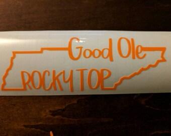 Rocky Top Window Clings