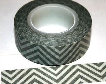 Grey and White Chevron Zig Zag Washi Tape