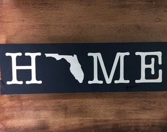 HOME Florida Sign Navy Blue