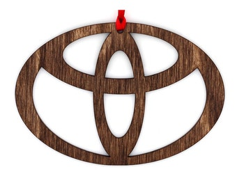 Wooden Toyota Ornament