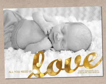 Holiday Photo Card: All You Need is Love