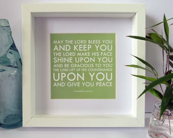 The Lord Bless you Frame, A beautiful Christian gift