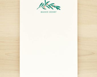 LUSH Personalized Notepad - Pretty Floral Olive Branch