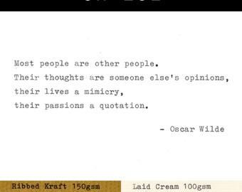 Real Typewriter – Oscar Wilde Quotes – Part 4