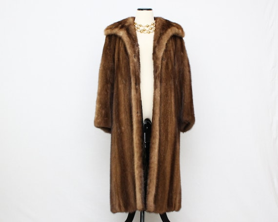 Fur Length Full Vintage Mink Coat Long Coat 1960s Brown wq10a4qA