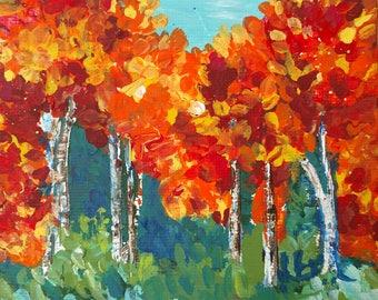 A Blaze, Landscape, small art