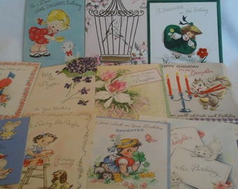 Vintage  to daughter  greeting  cards