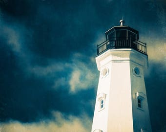 Lighthouse Art, Lighthouse Decor, North Point Lighthouse, Nautical Decor, Large Wall Art Print, Milwaukee, Wisconsin, Home Decor, Lakeshore
