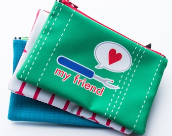 Zipper Bag, Sewing Pun, Seam Ripper, My Friend, Sewing Notions Bag