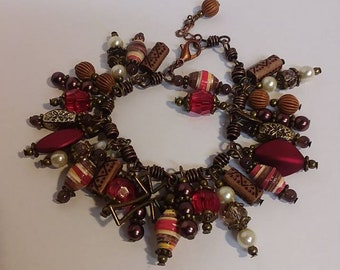 Upcycled Cha Cha Paper Bead Braclet