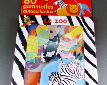 80 stickers stickers animals zoo