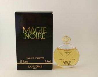 Vintage Mini Perfume Lancome Magie Noire 0.25 oz 7.5 ml Eau de Toilette