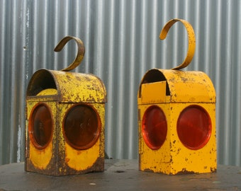 Vintage Road Workers Paraffin Lamps (1 x Kenlite Chalwyn)