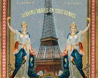 Sajou Eiffel Tower postcard