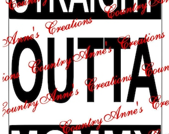 "SVG PNG DXF Eps Ai Wpc Cut file for Silhouette, Cricut, Pazzles  -""STraight outta Mommy"" svg"