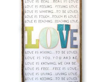 LOVE Is John Lennon Love Wedding Gift Nursery Decor Song Lennon Lyrics Wall Decor Bedroom Wall Quotes John Lennon Poster Music Wall Decor