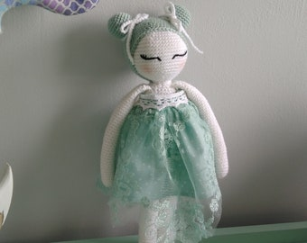 Mint crochet doll