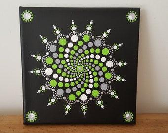 Mandala Wall Art Dot Painting Canvas