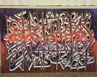 Sick1 graffiti art canvas