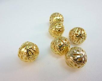 filigree gold metal 8 8mm beads