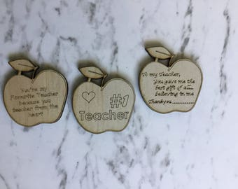 Teacher Gift Personalised Fridge Magnet with Beautiful Quote