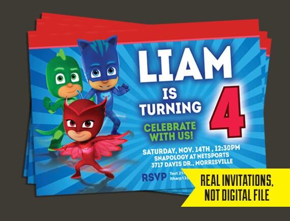 PJ Masks Invitation Pj Masks Birthday Invitation PJ Masks - Pj masks invitation template free