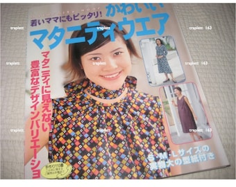 Japanese Sewing Book Maternity Clothing, Dresses, pants, blouse, tops, tunics, skirts