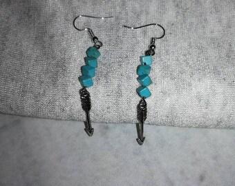 Sterling Silver Turquoise Arrow Earrings