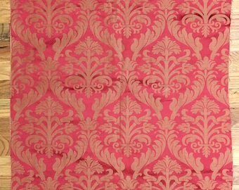 Lovely 19th Century French Silk Woven Damask Fabric (2121)