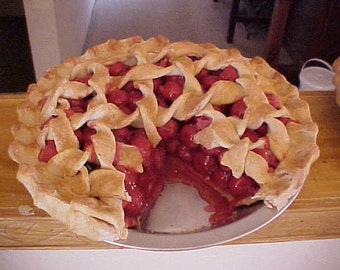 Fake Food Cherry Pie with a Slice Out Fake Pies
