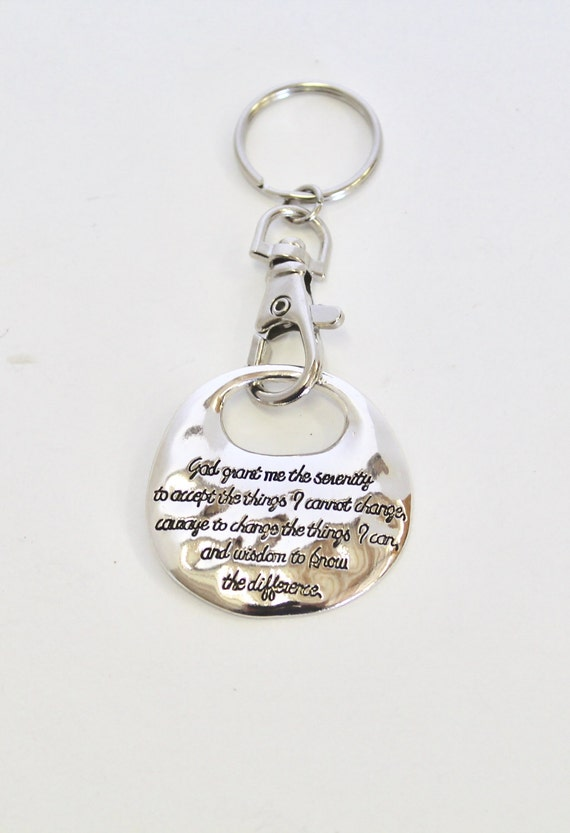 Serenity Prayer Keychain, Bible Verse Gift, Gift for Him, Gift For Her, Graduation Gift, New Car Gift, Keyring Gift, Recovery Keychain