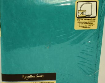 Recollections 8x6 Turquoise Scrapbook 10 Pages