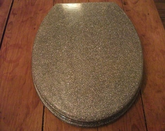 GLITTER TOILET seat, funky, modern, minimalist, available in SILVER,gold and black glitter