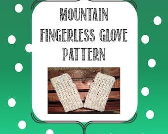 Mountain Fingerless Glove Pattern