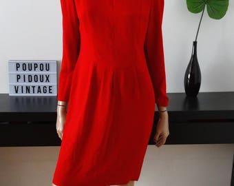 Red vintage LIZ CLAIBORNE size 36 - uk dress us 4 - 8
